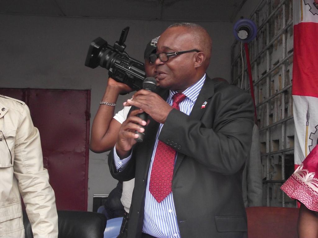 Jean-Bertrand Ewanga, Sg UNC dans une matinée au siège. Ph Lokole