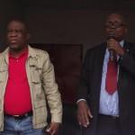 MM. Baudouin et Ewanga, Sec. interfédéral et Sg UNC ( Ph Lokole)